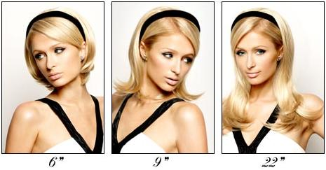 Coming soon paris hiltons velcro stick on hair extensions beaut a new one piece hair extension by paris hilton that makes changing the length of your hair as quick and easy as sliding on a headband pmusecretfo Gallery