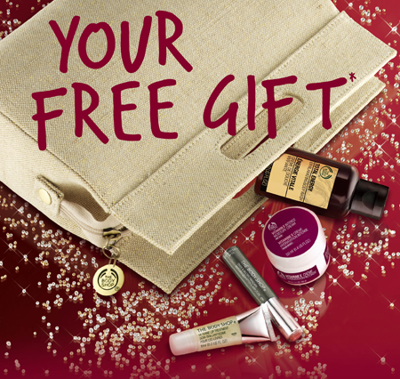 body shop gift with purchase