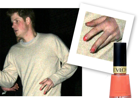Prince Harry and painted nails