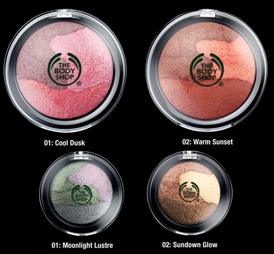 bodyshop pearlescent cheeks and eyes