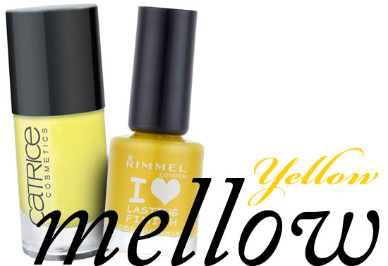 yello nail varnish from rimmel and catrice
