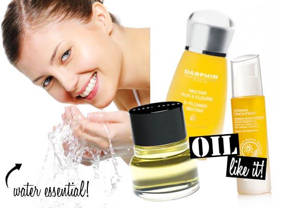 applying face oils