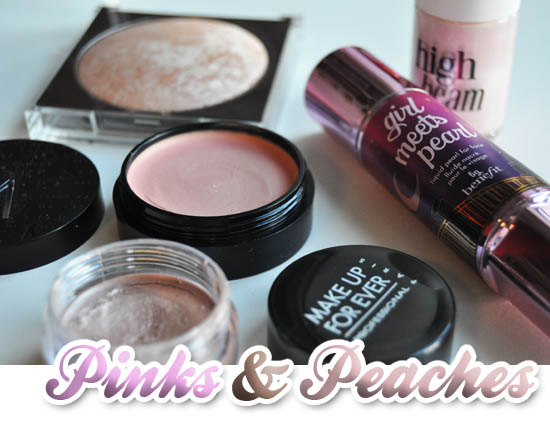 pink facial highlighers
