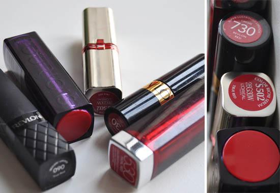 budget red lipsticks