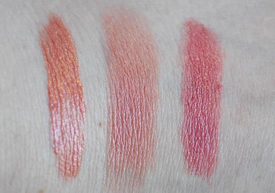 pink lipstick swatches