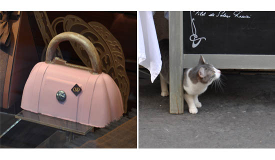 chocolate handbag and car