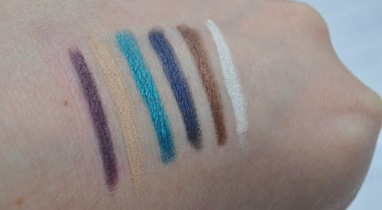 Nars liner swatches