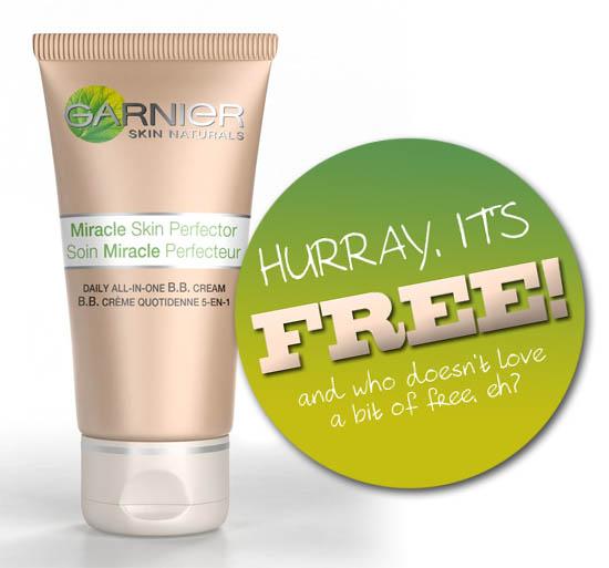 get a free sample of Garnier BB cream