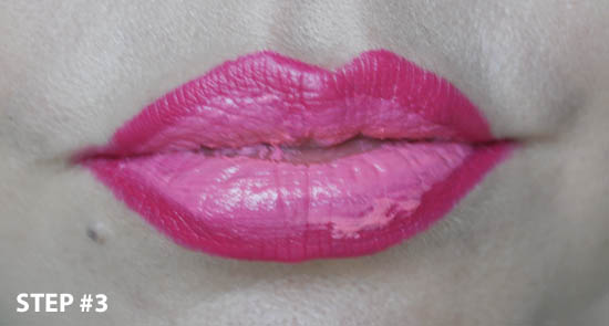 Ombre lip with pretty amazing applied