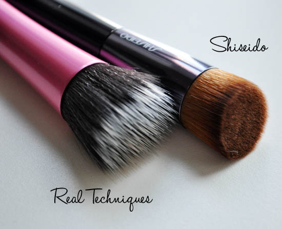 real techniques and shiseido buffing brushes