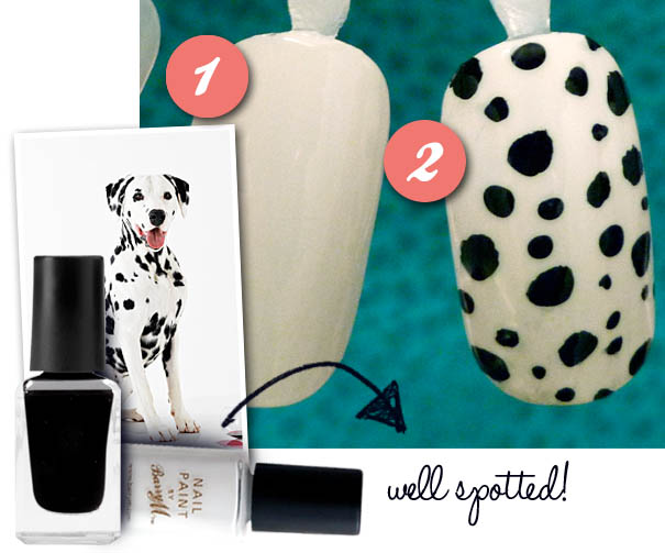dalmation print nails tutorial