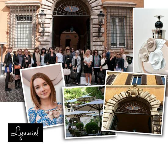 rome trip for valentino valentina perfume launch
