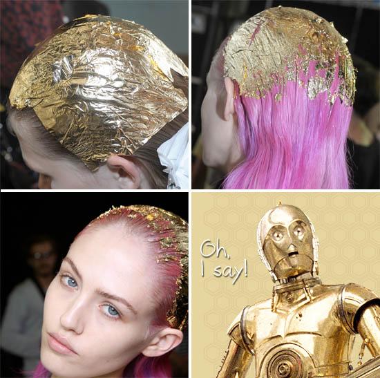 topshop unique gold hair