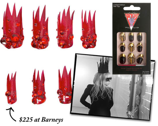 gaga nails at barneys