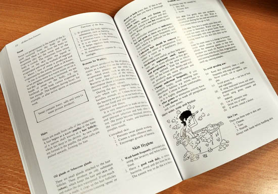 home ec book spread