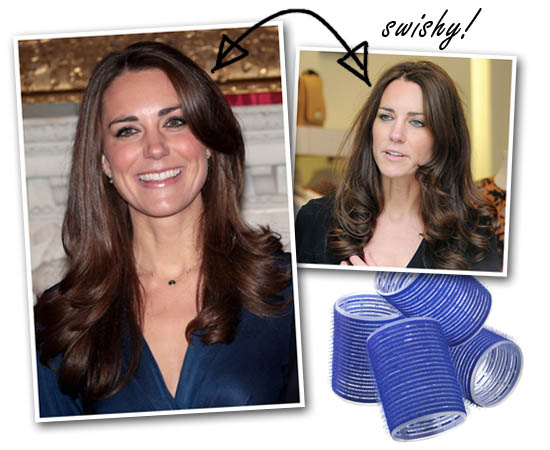 Kate Middleton & Velco rollers