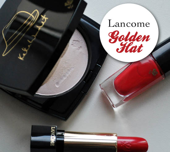 lancome golden hat