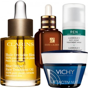 fab skincare from clarins, vichy, estee lauder and REN