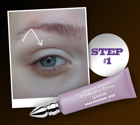 smokey eye step 1