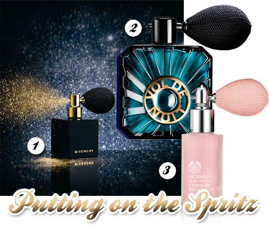 beauty powder spritzes for Christmas 2011