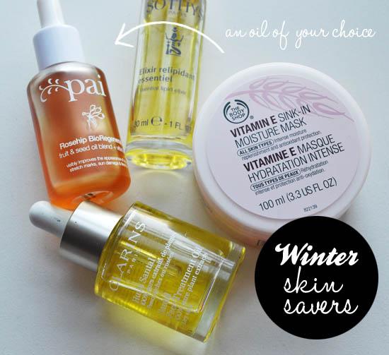 winter skin rescue with the body shop vitamin e mask