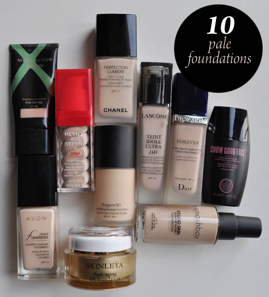 pale foundations for 2012