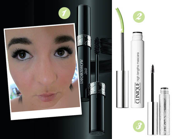 mascaras from dior and clinique