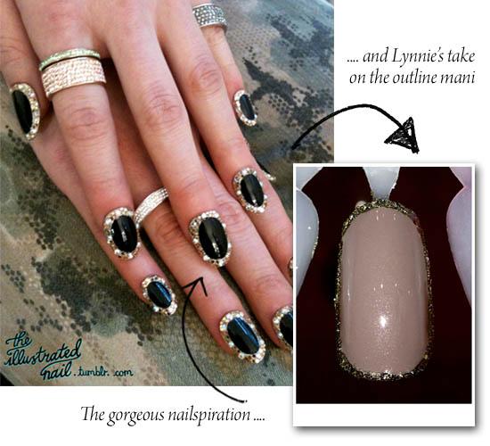 outline manicure