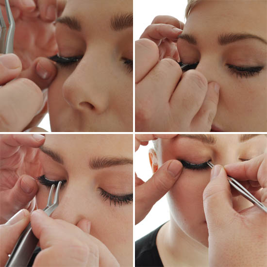 lashes tutorial - placement steps