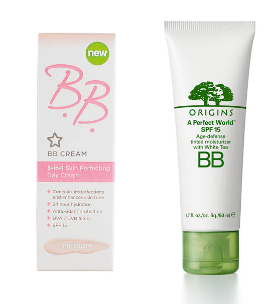 bb creams from superdrug and origins