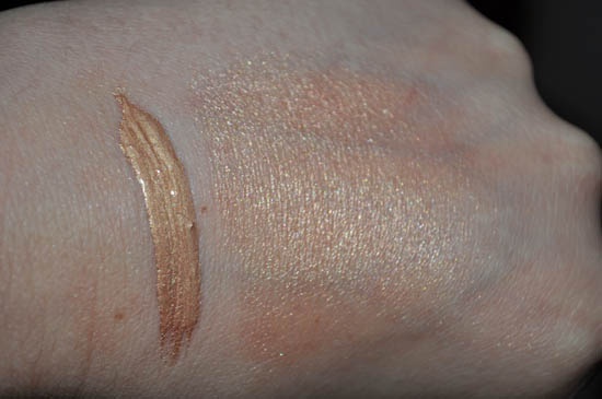 benefit sunbeam swatch with flash