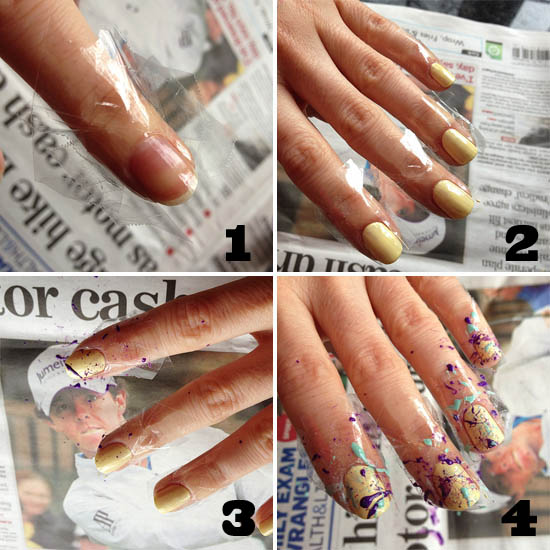 art attack nails: steps 1-4