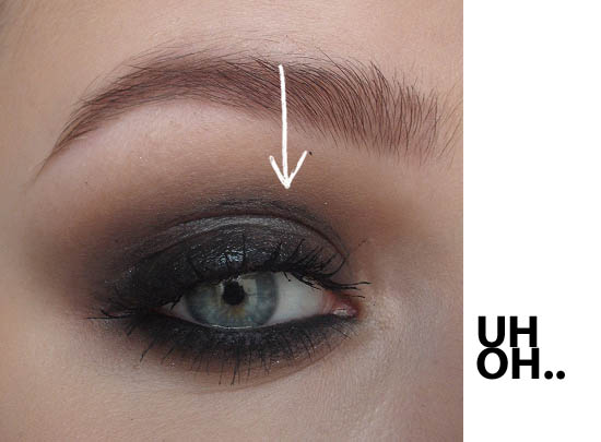smokey eye disaster!