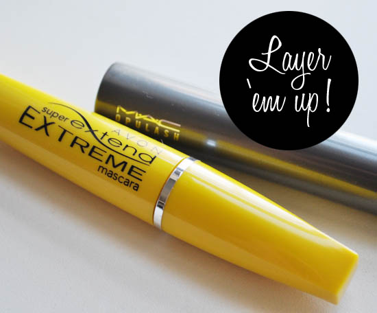 mascara from avon and mac