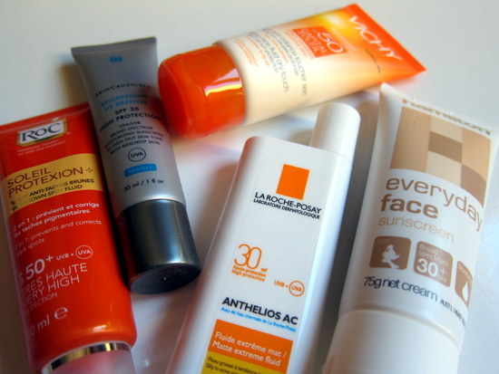 Sunscreen from La Roche Posay, Vichy, Roc, Skinceuticals and Hamilton