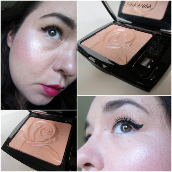 Lancome Blush Highlighter Moonlight Rose swatches