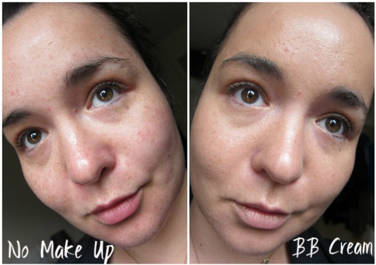 Pure BB Cream before and after