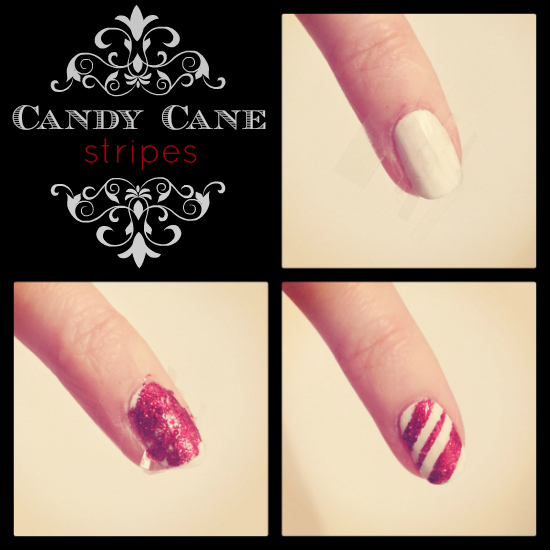 Beaut Christmas Nail Art Tape Trees Candy Cane Stripes And