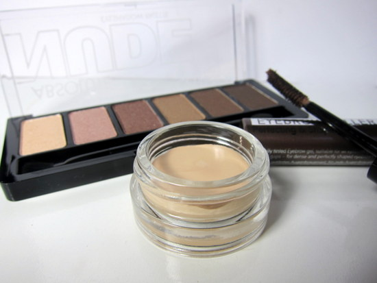 Catrice Absolute Nude Eyeshadow Palette, Primer, Brow Gel