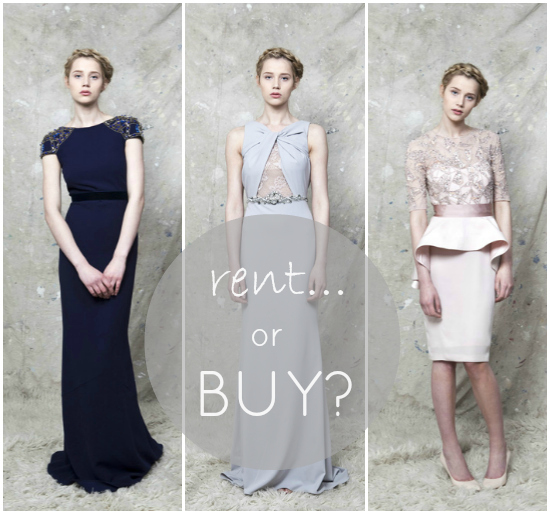 Special Occasion Dressing: Would You Rent Your Outfit