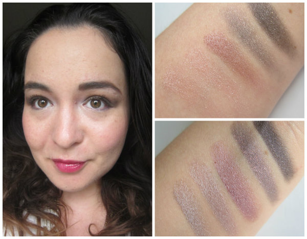 MAC Veluxe Pearlfusion Pinkluxe Swatches