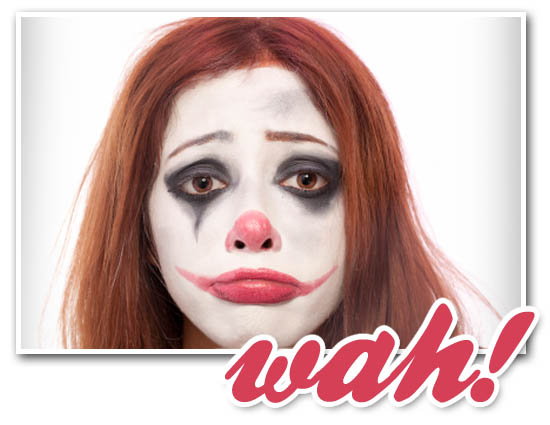 Ok, this is a clown and not a racoon. With this mascara you will look like neither.