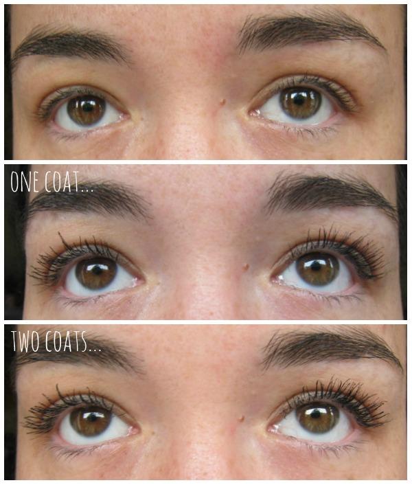 mac false lashes waterproof mascara review before and