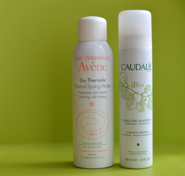 Currently on the go chez moi - Avene and Caudalie water sprays