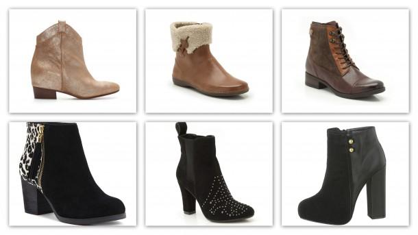 CLOCKWISE LEFT TO RIGHT: Zara €99 | Clarks | Clarks | Penneys from September €22 | Clarks | Dune €120