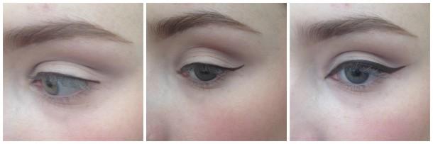 brown feline eye liner step 3
