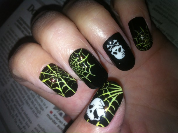 Easy Halloween Nail Art with Broadway Impress Stick On ...