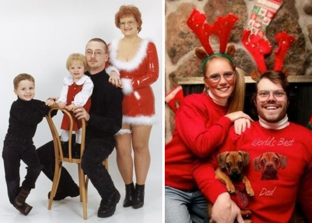 pvc dog - Awkward Family Christmas Photos