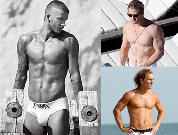 Team Smooth: David Beckham , Chris Hemsworth, Matthew McConaughey