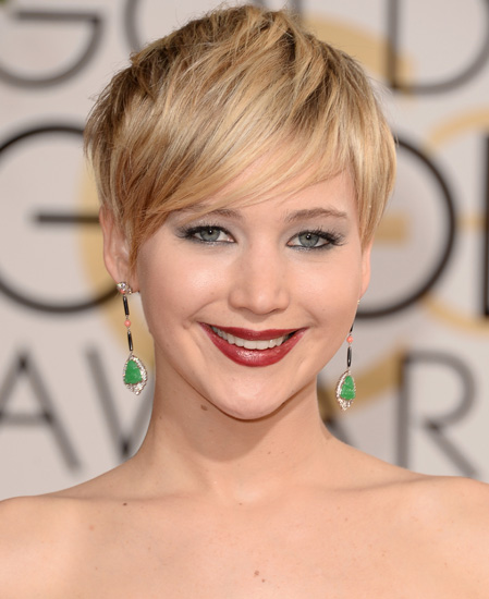 Jennifer Lawrence at the Golden Globes 2014 (Image: Getty Images)